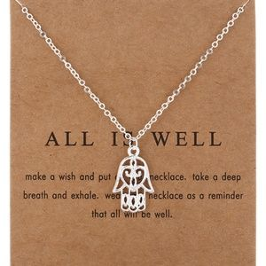Inspirational All is Well Fatima Hand Necklace NEW